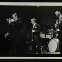 Eddie Condon, Gene Schroeder, Wild Bill Davison, Bob Wilber and Robert 'Cutty' Cutshall (left to right)