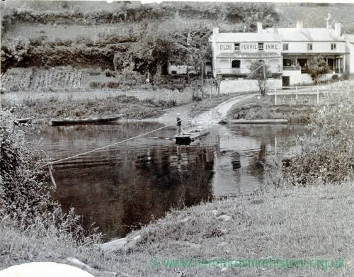 Symonds Yat, river Wye ford & ferry