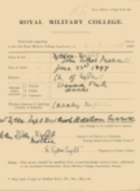 RMC Form 18A Personal Detail Sheets Jan 1915 Intake - page 359