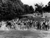 Cannon Hill Common - paddling pool, Raynes Park