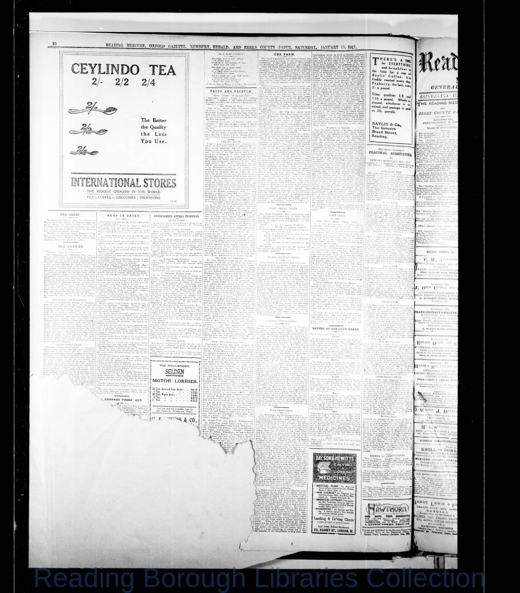 Reading Mercury Oxford Gazette Saturday, January 13, 1917. Pg 10