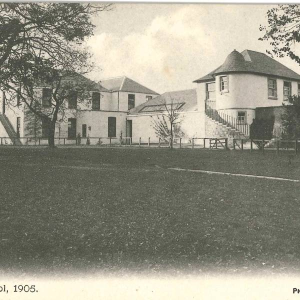 Postcard of School house 1905
