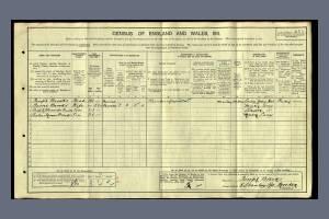 1911 cenus - Stanley Road