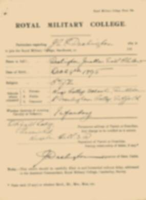 RMC Form 18A Personal Detail Sheets Jan 1915 Intake - page 369