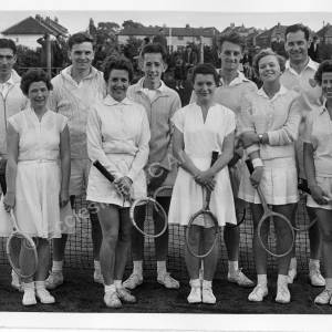 Thorncliffe Sports Tennis Club Players c 1950s
