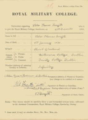 RMC Form 18A Personal Detail Sheets Jan 1915 Intake - page 125