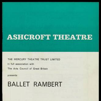 Ashcroft Theatre, Croydon, April 1967