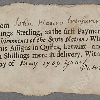 Bonds, discharges and payments, 1702-1709