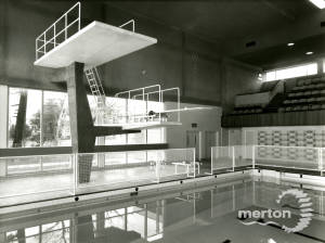 The main pool at Morden Park Swimming Baths.