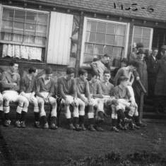 After the final of the school football cup, 1955-56