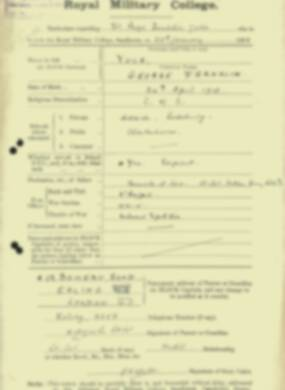 RMC Form 18A Personal Detail Sheets Jan 1915 Intake - page 1