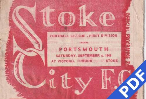19480904 Official Programme Stoke Away