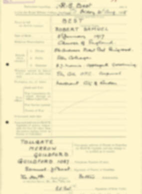 RMC Form 18A Personal Detail Sheets Aug 1935 Intake - page 23