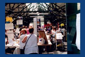 Family event at the Merton Abbey Mills Arts & Craft Market