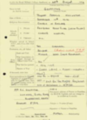 RMC Form 18A Personal Detail Sheets Aug 1934 Intake - page 85