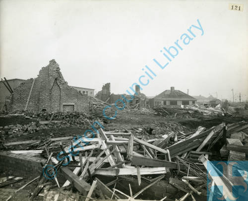 Aintree Road, bomb damage, Blitz