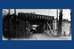 West Barnes Lane, Railway Bridge