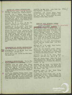 War Grave registration J Box