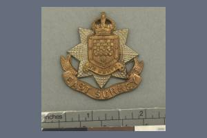 Badge Headdress  - 13th Battalion, East Surrey Regiment