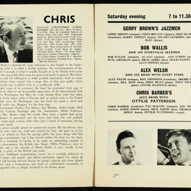Chris Barber's Jazz Band with Ottilie Patterson, National Jazz Festival, Richmond - 1962 005