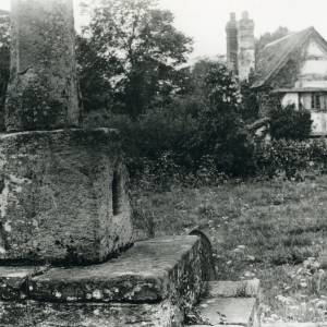 Blakemere, church cross socket stone, 1928