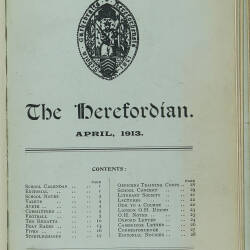 The Herefordian No 72_April 1913