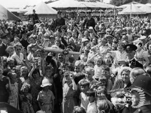 Mitcham Fair opening Ceremony.  View of crowds