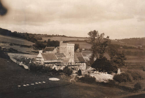 Branscombe Church restoration, c1911, Branscombe