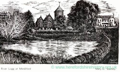 1002 Mordiford - The River Lugg by Mary C Soulsby.jpg