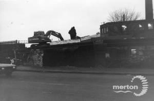 Christchurch  Road: Demolition  of old railway bridge, Colliers Wood