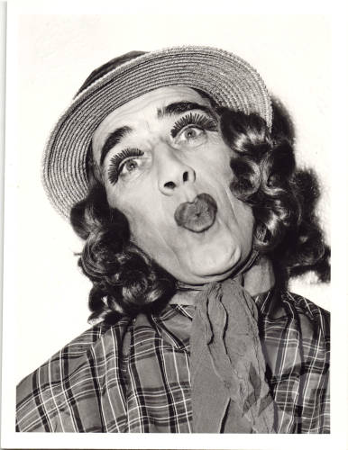 Photograph - Johnny Beattie as a dame