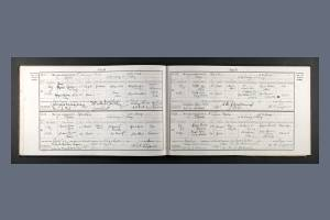 Marriage Certificate for Marjorie Peat and Guy Meyrick Mallaby-Deely