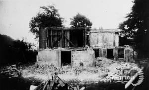 Abbey house under demolition