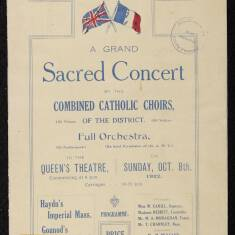 A Grand Sacred Concert in Aid of the Catillon Adoption Fund
