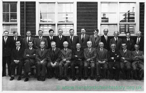A 1950s group of Hereford High School for Boys teachers.