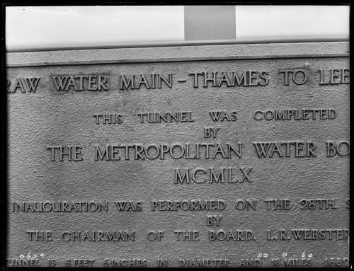 "102"" Tunnel main Lockwood Shaft inauguration plaque"