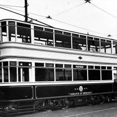 "No.45 ""Monarch of Bermuda"" at tramways depot in Dean Road"