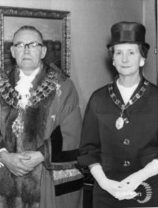 Mayor and Mayoress, Councillor W H Sanderson and Mrs I Mount  (1963-64)