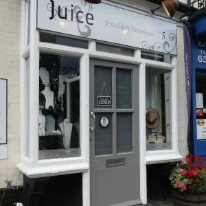 Shop Safe signs at Juice Jewellery Boutique, Ledbury