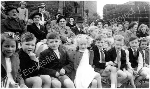 Coronation Rose Day, Grenoside School 1953.