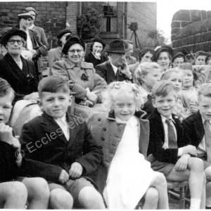 Coronation Rose Day, Grenoside School 1953.