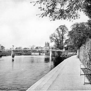The Victoria Bridge from the Infirmary, from 'Photographic Views of Hereford'