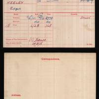 Lance Corporal Edgar Keeley medal index card