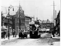 Tram on Merton Road near the junction with Quicks Road