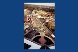 London Road, Morden: Aerial view of Morden Centre