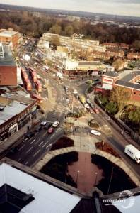 London Road, Morden: Aerial view of Morden Centre