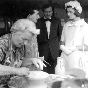 Princess Alexandra meets a potter