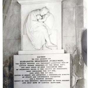 Elizabeth Holcombe Ferguson, memorial at Kings Caple church, Herefordshire