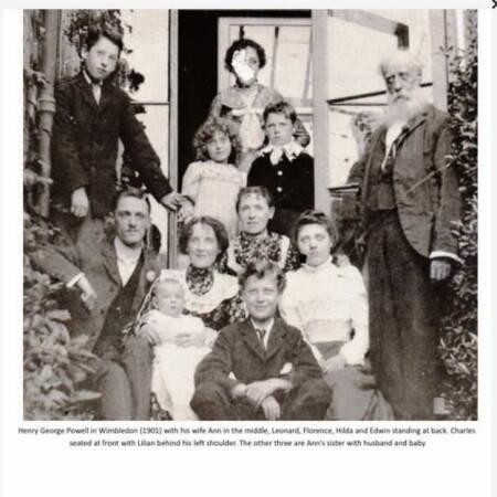 Edwin Powell and Leonard Powell - Family photo taken in 1901