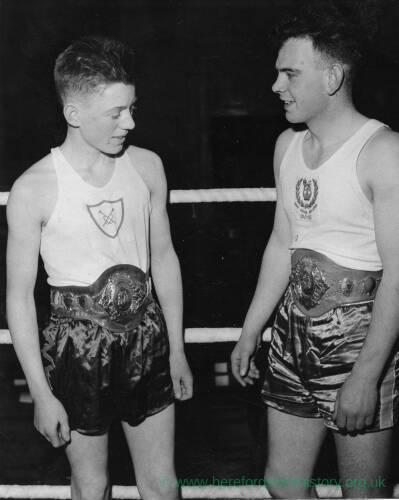 Two boxers before a bout.